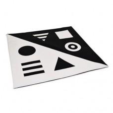 Детский игровой Коврик-Мат Черно-Белый для отдыха и развития детей от 1 года дома, в детских садах 135х135х3см