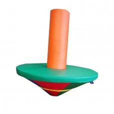 Мягкая игровая фигурка-качалка для одного ребенка от 4 до 10 лет для квартиры или садика Грибок 120х30 см