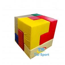 Мягкий модульный яркий конструктор из 7 элементов для детей от 1 года для квартиры, дома и дачи Кубик Рубика