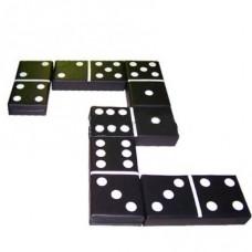 Мягкий крупногабаритный дидактический игровой набор из 6 матов для детей от 1 года для дома Домино черно-белое