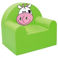 Мягкое яркое игровое кресло для детей от 1 до 10 лет с изображением для квартиры или школы Коровка 60х65х60 см