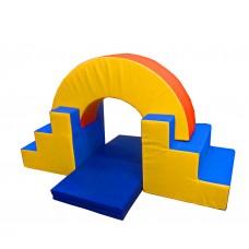Мягкий спортивно-игровой тренажер из 4 элементов для детей от 1 года для квартиры, детского сада, дачи Аркада
