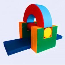 Мягкий спортивно-игровой тренажер из 5 элементов для детей от 1 года для квартиры, детского сада,дачи Замочек