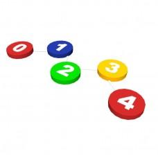 Спортивно-игровой мягкий модуль для сенсорной комнаты балансировочный путь для детей от 3 до 10 лет Цифры