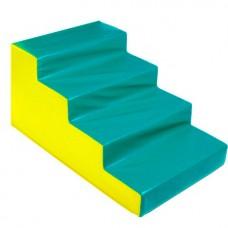 Мягкий спортивный игровой тренажер для детей от 2-х лет для физической активности Ступени, 4 шага 90х60х50 см