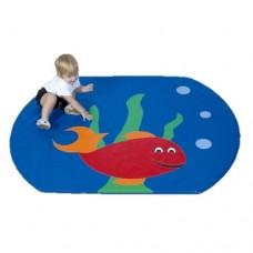 Детский игровой Мат-Коврик Рыбка для развивающих занятий для детей любого возраста, съемный чехол 120х80х3 см