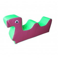 Мягкая игровая фигура-качалка для детей от 2-х лет для квартиры, детского сада или школы Гусеница 80х25х40 см