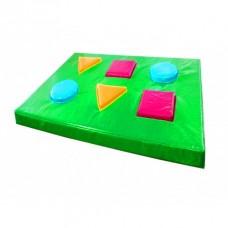 Детский игровой Мат-сортер Геометрия с фигурами для сортировки для детских развивающих центров 150х100х10 см
