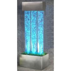 """Световое решение для сенсорной комнаты: Пузырьковая колонна на подставке """"Трио"""" на 16 оттенков 20х48х60 см"""