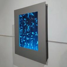 Настенная Пузырьковая панель с регулируемой подсветкой и пультом управления, наполнена водой 61х41х8см