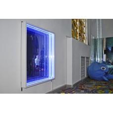 Световое решение для сенсорной комнаты: Зеркало с эффектом бесконечности, пульт управления 16 режимов, 50х50см