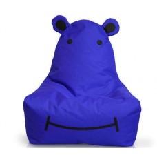 Бескаркасное детское Кресло-мешок Бегемот со съемным чехлом из ткани Оксфорд, пенополистирол 100х50 см