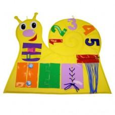 Игровой дидактический модуль для детей с аппликациями и заданиями для детского сада,квартиры Улитка 100х100 см
