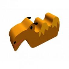 Детская мягкая спортивная игровая Качалка с аппликацией для дома, детского сада, школы Верблюд 100х30х55 см