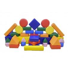 Мягкий Напольный Модульный Конструктор Мини для детей от 1 года, 37 элементов для дома, игровых центров, школ