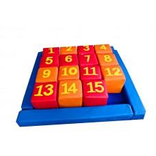 Набор дидактических развивающих мягкий игровых модулей 15 кубиков для детей от 1 года для квартиры Пятнашки