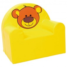 Мягкое яркое игровое кресло для детей от 1 до 10 лет с рисунком для квартиры, дачи или школы Мишка 60х65х60 см