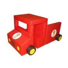 Детский Спортивно-игровой разборный Модуль-трансформер Пожарная машина из 9 элементов со съемным чехлом