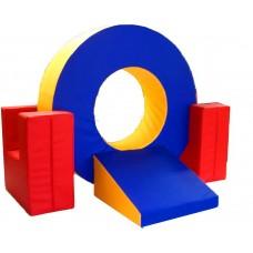 Мягкий спортивно-игровой тренажер из 4 элементов для детей от 1 года для квартиры, детского сада,дачи Кольцо