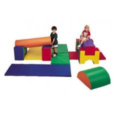 Мягкий игровой Модульный Конструктор Блок-4 для детей, 11 геометрических фигур для дома, игровых центров, школ