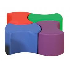 Мягкий игровой модульный стол-конструктор из 4 частей разборный для детей от 3 лет для квартиры 40х30х40 см