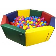 Мягкий игровой детский модульный сухой бассейн разборный для дома и улицы без шариков Восьмигранник 200 см