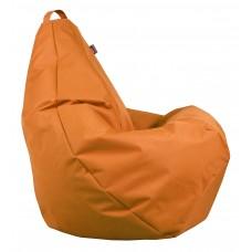 Бескаркасное Кресло-Груша со съемным чехлом из ткани Оксфорд 600D и ручкой для переноски, оранжевый 90х60 см