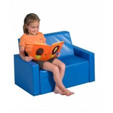 Компактный мягкий игровой детский диван для квартиры, школы и дачи для детей от 2-х лет из ПВХ 90х40х60 см