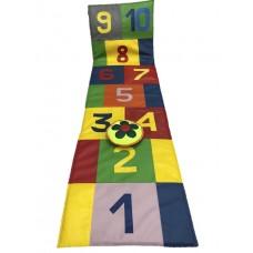 Детский напольный Коврик-игра Классики цветная для занятий с детьми от 1 года, со съемным чехлом 180х50х1 см