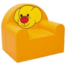 Мягкое яркое игровое кресло для детей от 1 до 10 лет с рисунком для квартиры, дачи или школы Песик 60х65х60 см
