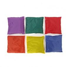 Набор учебных развивающих сенсорных детских подушечек 6 штук водонепроницаемых для квартиры, дома 15х15 см