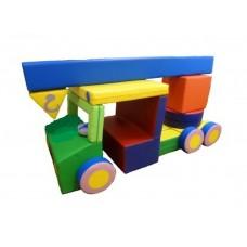 Детский Спортивно-игровой Модуль-трансформер Автокран: конструктор из 23 мягких элементов со съемным чехлом