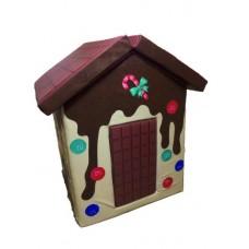 Мягкий игровой объемный Домик Фрукты с аппликациями разборный из матов для дома, детского сада 100х100х140 см