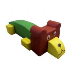 Детский мягкий игровой разборный модуль со съемным чехлом для дома, детского сада, школы Медведь 180х60х70см