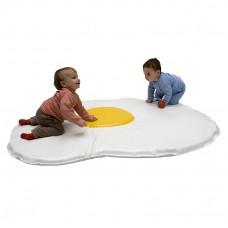 Детский игровой Коврик-Мат Яичница для развития детей с рождения наполнитель из пенополистирола 160х160х2 см