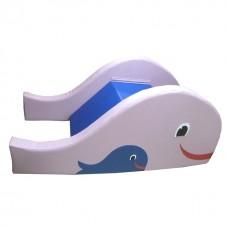 Модульная игровая детская горка-ступеньки для сухих бассейнов для квартиры, дачи, детсадов Рыбка 200х90х80 см