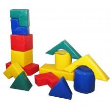 Мягкий детский Игровой Модульный конструктор Блок-8 из 14 геометрических фигур для дома, игровых центров, школ