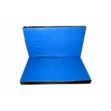 Гимнастический Складной Мат для спортивных залов или домашних тренировок со съемным чехлом 120х100х8 см