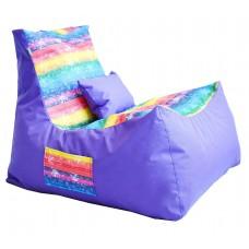 Бескаркасное Кресло Барселона для отдыха со съемным чехлом из ткани Оксфорд с принтом и однотонное 90х70х60 см