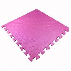Детский Коврик-Мат Малыш мягкий пол для спортивных уголков дома, в детских садах, EVA, розовый 51х51х1см