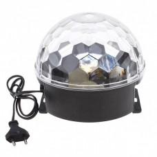 Световое решение для сенсорной комнаты: Светодиодный диско-шар STLS MB-06 с цветными вращающимися лучами