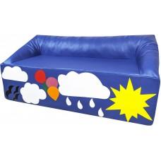 Детский Игровой Мягкий диван Облако для детей от 2 лет, со съемным чехлом для дома, сада, школы, 110х65х50 см