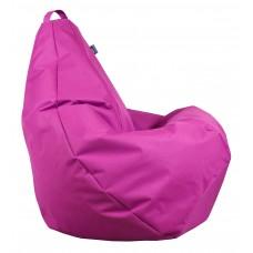 Бескаркасное Кресло-Груша со съемным чехлом из ткани Оксфорд 600D и ручкой для переноски, цвет розовый 90х60см