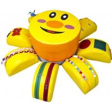 Игровой дидактический модуль  Солнышко для детей от 1 года с обучающими элементами для дома, детсада 80х80 см