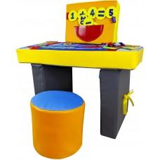 Развивающий игровой Дидактический модуль Столик с пуфом для дома, игровых центров, стол 80х45х45 см, пуф D=30