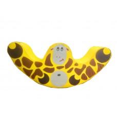 Мягкая игровая фигурка-качалка для ребенка до 4 лет с рисунком для квартиры или садика Жираф 120х60х30 см