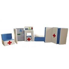 Дидактический развивающий игровой модульный набор с 8 элементами для детей от 1 года разборный Доктор Айболит