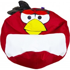 Бескаркасное Кресло-мешок мяч Angry Birds со съемным чехлом и ручкой для переноски, пенополистирол 90х90 см