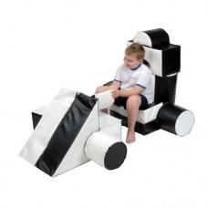 Мягкий развивающий игровой модуль-трансформер для детей от 1 года разборный Гоночный болид 102х51х51 см
