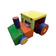 Детский Спортивно-игровой Модуль-трансформер Трактор: конструктор из 13 мягких элементов со съемным чехлом